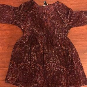 NEVER WORN: Maroon Dress ($15)